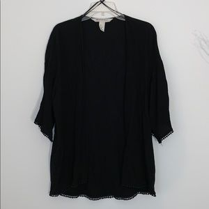 H&M's Black Open Boho cover up